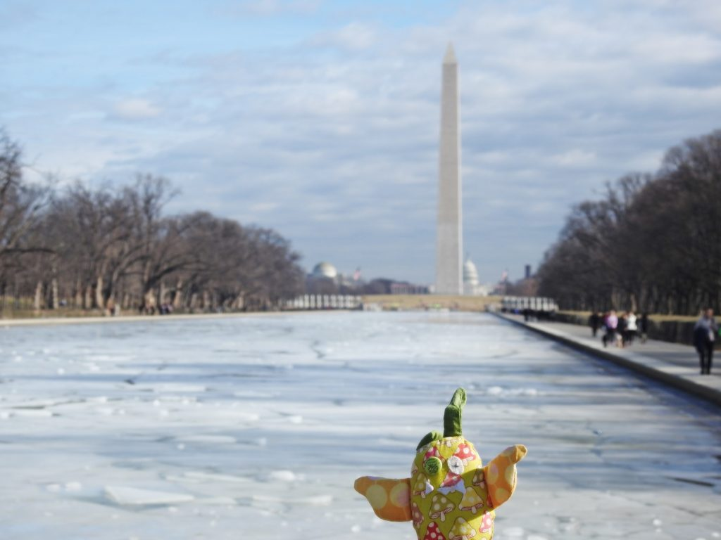 Schutzmonster vor Washington Monument